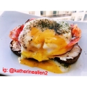 Open Faced Poached Egg and Smoked Salmon Sandwich