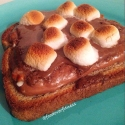 Open-Faced S'Mores Sandwich