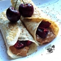 Pb & Cherry Egg White Crepes