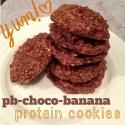 Pb-Choco-Banana Protein Cookies
