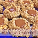 Pb Chocolate Banana Oatmeal Thumbprints