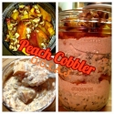 Peach Cobbler Overnight Oats In a Jar