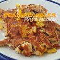 Peach Cobbler Protein Pancakes