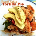 Peach Salsa Tortilla Pie