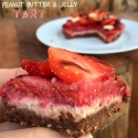 Peanut Butter and Strawberry Tart