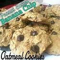 Peanut Butter Banana Chip Oatmeal Cookies