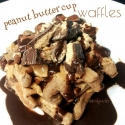 Peanut Butter Cup Waffles