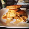 Peanut Butter, Pumpkin, and Psyllium Pancakes