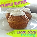 Peanut Butter Pumpkin Muffins With Cream Cheese Frosting