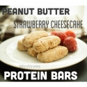Peanut Butter Strawberry Cheesecake Protein Bars