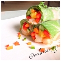 Pineapple Veggie Shrimp Rolls