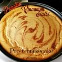 Pumpkin Cinnamon Swirl Protein Cheesecake