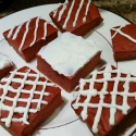 Red Velvet Protein Brownies