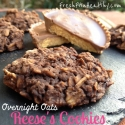 Reeses Overnight Oats Cookies