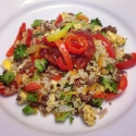 Rice Sit-Fry With Egg & Lean Ground Beef