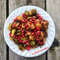 Roasted Brussel Sprouts With Pomegranate and Lemon