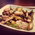 Roasted Pear & Asparagus Almond Chicken Salad