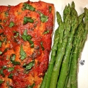 Roasted Red Pepper Topped Salmon