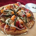 Roasted Veggie and Sweet Potato Pizza