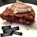 Rocky Road Oatmeal Protein Cake