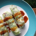 Salad Rolls W/ Spicy Peanut Sauce