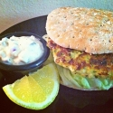 Salmon Burgers With Tartar Sauce