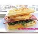Savoury Low-Carb Waffle Breakfast Sandwich