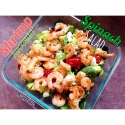 Shrimp & Avocado Spinach Salad