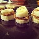 Simple Banana and Peanut Butter Sliders