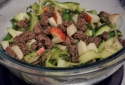 Simple Zucchini Pasta With Ground Beef and Apples
