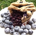 Single Serve Blueberry Pie Mugcake