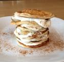 Spiced Ginger Pear Protein Pancakes