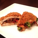 Spicy Quinoa Crusted Stir Fry Stuffed Chicken