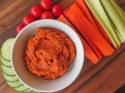 Spicy Red Bell Pepper Hummus