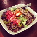 Spicy Turkey, Quinoa, and Black Bean Bowl
