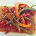 Spicy Wok Fried Green Beans and Peppers