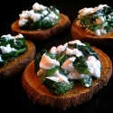 Spinach & Cheese Sweet Potato Discs