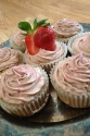 Strawberry Margarita Cupcakes With Strawberry Cocoa Cheesecake Frosting