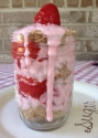 Strawberry Shortcake Mugcake In a Jar