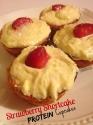 Strawberry Shortcake Protein Cupcakes