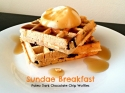 Sundae Breakfast, Paleo Waffles
