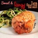 Sweet and Tangy Tuna-Stuffed Salmon
