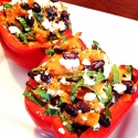 Sweet Potato and Black Bean Stuffed Red Pepper