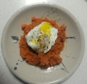 Sweet Potato Mash and Poached Egg
