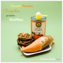 Sweet Potato Pumpkin Protein Waffles