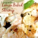 Three-Ingredient Lemon Baked Shrimp