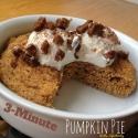 Three Minute Pumpkin Pie