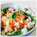 Tofu Egg-White Spinach Salad