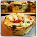 Tomato-Arugula-Feta Egg White Cups
