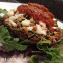 Tuna and Spinach Stuffed Portobello Mushroom